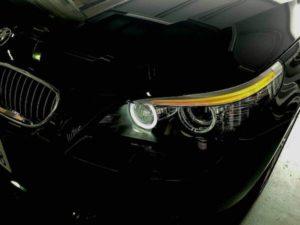 BMW5シリーズE60 ヘッドライトイカリングLED化